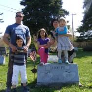 Foto's maken op een begraafplaats
