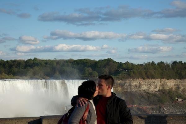 geliefd echtpaar, Niagara watervallen