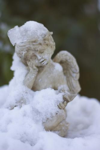 engel in sneeuw