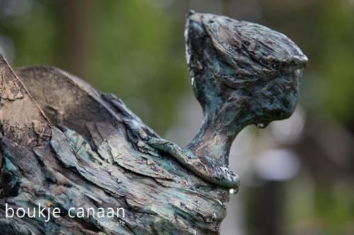 engel op begraafplaats munsel - Boukje Canaan-verdriet